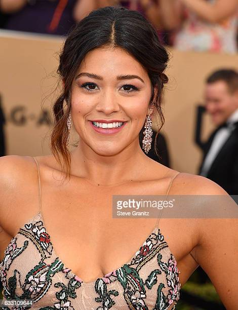 Gina Rodriguez arrives at the 23rd Annual Screen Actors Guild Awards at The Shrine Expo Hall on January 29 2017 in Los Angeles California