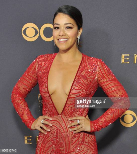 Gina Rodriguez arrives at the 69th Annual Primetime Emmy Awards at Microsoft Theater on September 17 2017 in Los Angeles California