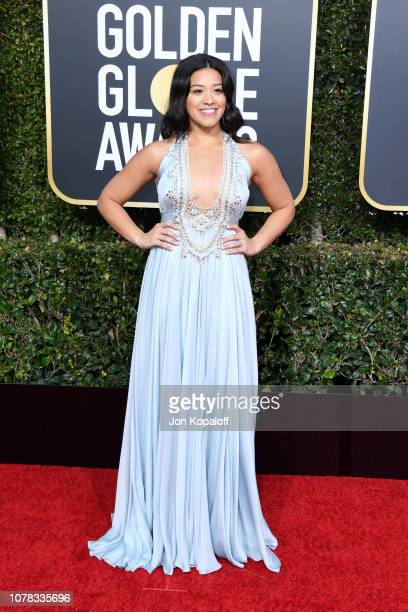Gina Rodriguez attends the 76th Annual Golden Globe Awards at The Beverly Hilton Hotel on January 6 2019 in Beverly Hills California