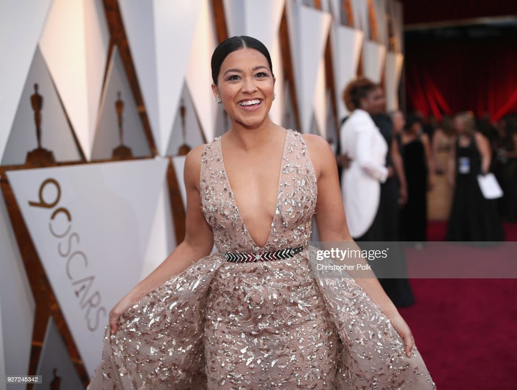 Gina Rodriguez attends the 90th Annual Academy Awards at Hollywood & Highland Center on March 4, 2018 in Hollywood, California.