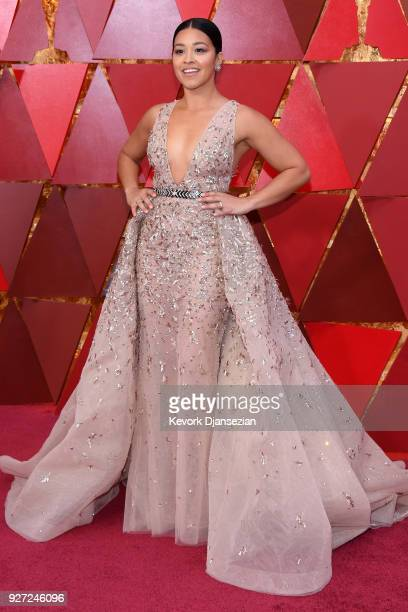 Gina Rodriguez attends the 90th Annual Academy Awards at Hollywood Highland Center on March 4 2018 in Hollywood California