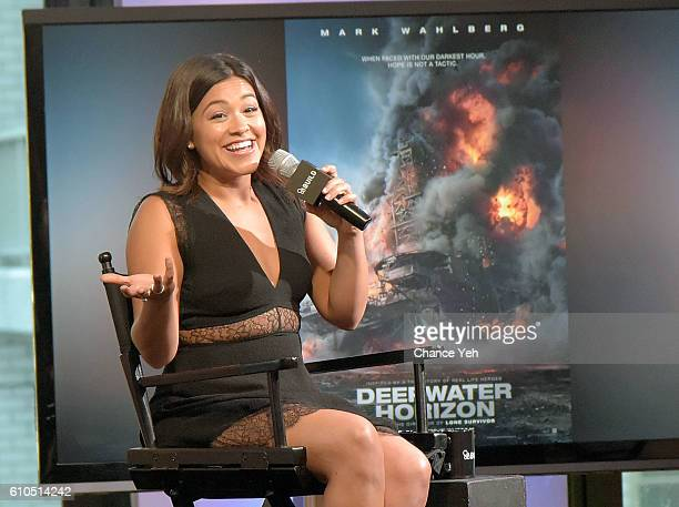 Gina Rodriguez attends The Build Series to discuss Deepwater Horizon at AOL HQ on September 26 2016 in New York City