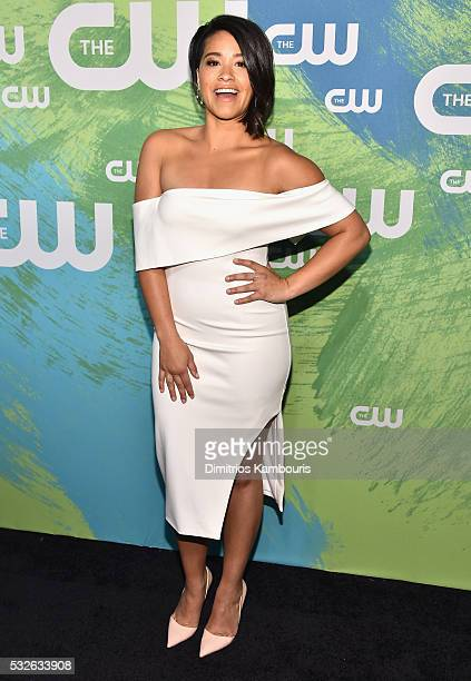 Gina Rodriguez attends the CW Network's 2016 New York Upfront Presentation at The London Hotel on May 19 2016 in New York City