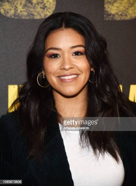 Gina Rodriguez attends the Miss Bala photo call at The London Hotel on January 13 2019 in West Hollywood California