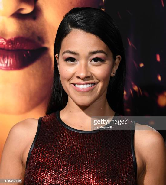 Gina Rodriguez attends the premiere of Columbia Pictures' Miss Bala at Regal LA Live Stadium 14 on January 30 2019 in Los Angeles California