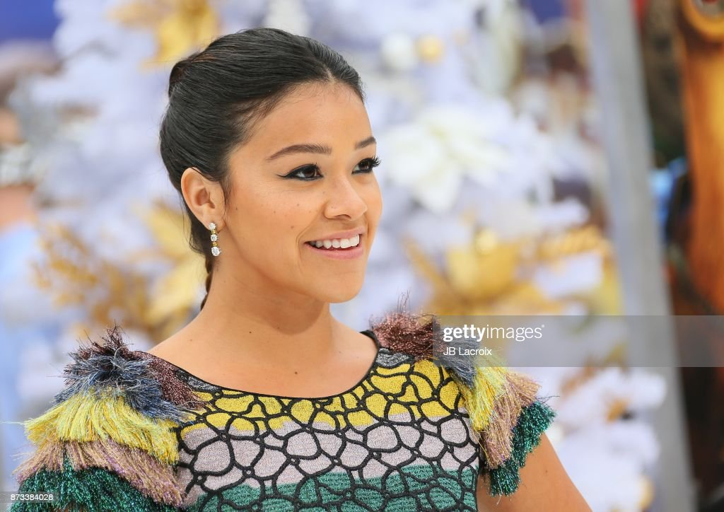 Gina Rodriguez attends the premiere of Columbia Pictures' 'The Star' on November 12, 2017 in Los Angeles, California.