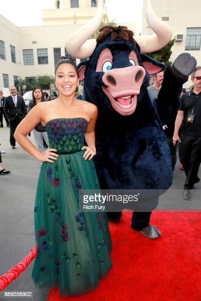 Gina Rodriguez attends the screening of 20th Century Fox's 'Ferdinand' at Zanuck Theater at 20th Century Fox Lot on December 10 2017 in Los Angeles...