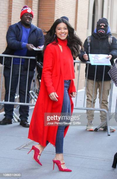 Gina Rodriguez is seen on January 22 2019 in New York City