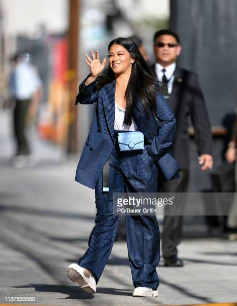 Gina Rodriguez is seen on on April 17 2019 in Los Angeles California