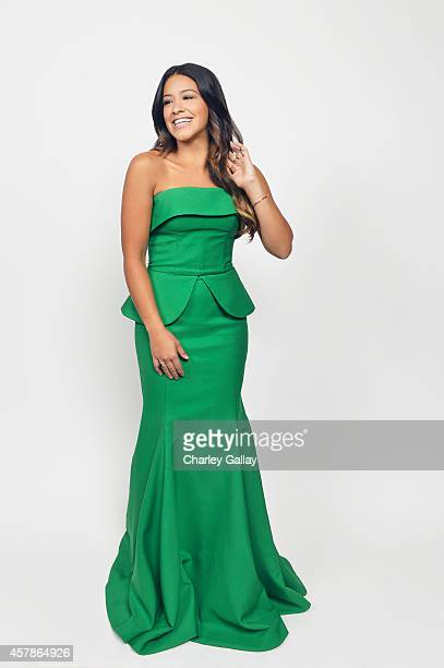 Gina Rodriguez poses for a portrait at the 2014 NCLR ALMA Awards for on October 10 2014 in Pasadena California