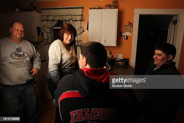 Gina Russo of Cranston RI survived The Station nightclub fire five years ago She was photographed with her children Alex Odsen and Nick Odsen 13 and...
