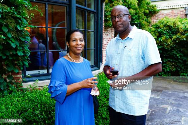 Gina Samson and Jude Samson attend A Country House Gathering To Benefit Preservation Long Island on June 28 2019 in Locust Valley New York