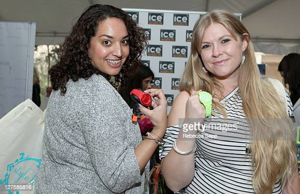 Gina Selim and Amber Frakes attend Kari Feinstein's Academy Awards Style Lounge at Montage Beverly Hills on February 25 2011 in Beverly Hills...