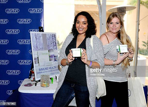 Gina Selim and Amber Frakes attend USANA at Kari Feinstein's Academy Awards Style Lounge at Montage Beverly Hills on February 25 2011 in Beverly...