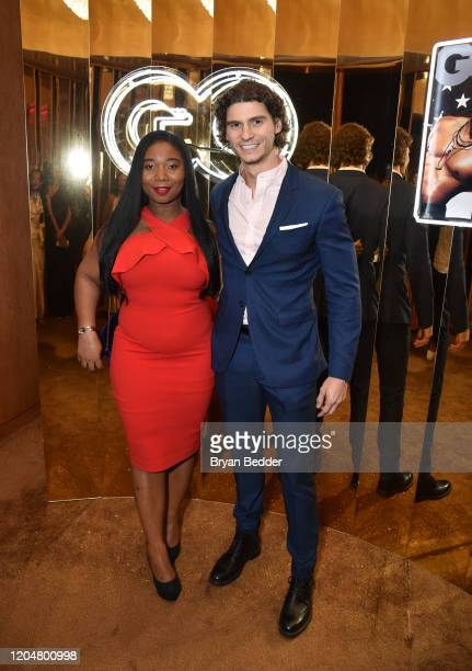 Gina Siani and David Arquilla attend the GQ March 2020 Cover Party at The Standard Highline on March 01 2020 in New York City