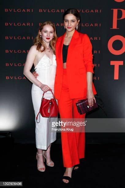 Gina Stiebitz and Lisa Vicari at the Unapologetic Night by BVLGARI x Constantin Film at BVLGARI CLVB on February 23 2020 in Berlin Germany
