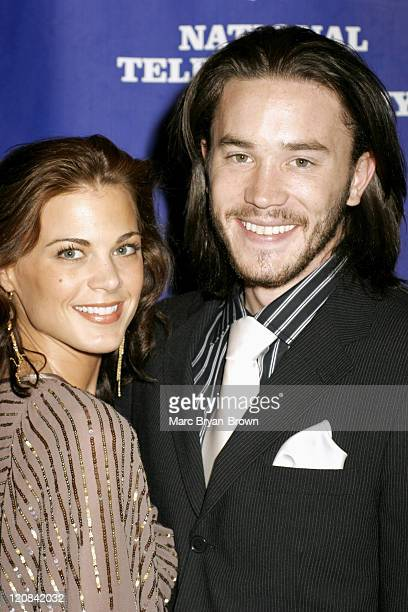 Gina Tognoni and Tom Pelphrey of 'Guiding Light' during The 32nd Annual Creative Craft Daytime Emmy Awards at Mariott Marquis Hotel in New York City...