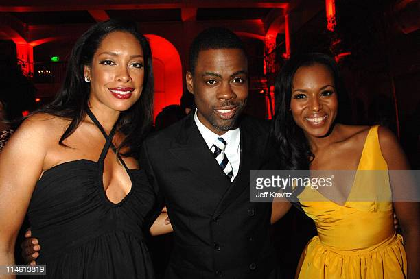 Gina Torres Chris Rock and Kerry Washington during 'I Think I Love My Wife' Los Angeles Premiere After Party in Los Angeles California United States
