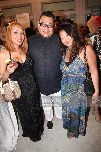 Gina Torres Joseph Solis and Felicia Quaning attend the For You Bayou event presented by Carol's Daughter and The Diva Lounge at the Carol's Daughter...