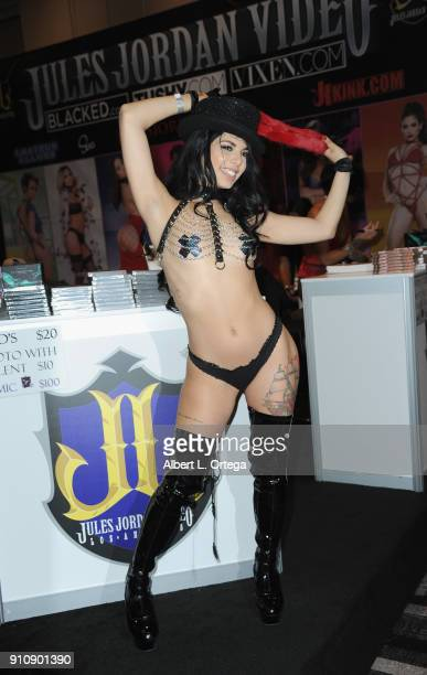 Gina Valentina attends the 2018 AVN Adult Entertainment Expo at the Hard Rock Hotel Casino on January 26 2018 in Las Vegas Nevada