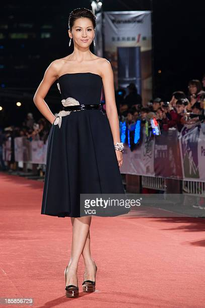 Gina Zeng attends the red carpet of the 48th Golden Bell Award on October 25 2013 in Taipei Taiwan of China