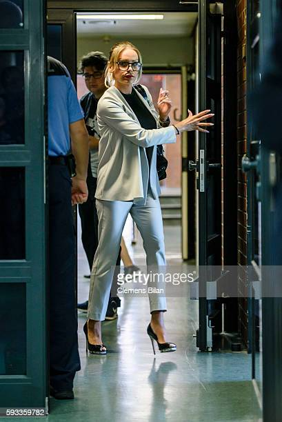 GinaLisa Lohfink arrives for a court trial on August 22 2016 in Berlin Germany The 29yearold model was ordered to pay a 24000 EUR fine in January...