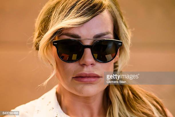 GinaLisa Lohfink arrives for a court trial on June 27 2016 in Berlin Germany The 29yearold model was ordered to pay a 24000 EUR fine in January 2016...