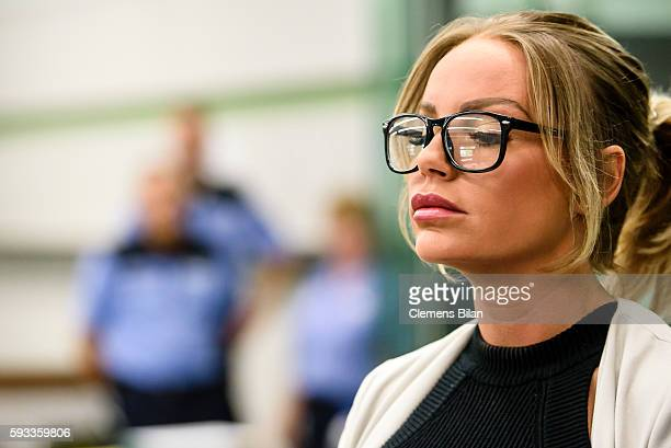 GinaLisa Lohfink attends a court trial on August 22 2016 in Berlin Germany The 29yearold model was ordered to pay a 24000 EUR fine in January 2016...