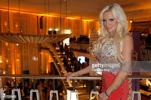 Gina-Lisa Lohfink attends the Echo Award 2015 - After Show Party on March 26, 2015 in Berlin, Germany.