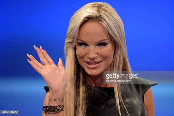 Gina-Lisa Lohfink attends the first live show of Promi Big Brother 2015 at MMC studios on August 14, 2015 in Cologne, Germany.