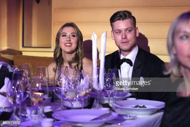 GinaMaria Schumacher daughter of of Michael Schumacher and her boyfriend during the Audi Generation Award 2017 at Hotel Bayerischer Hof on December...