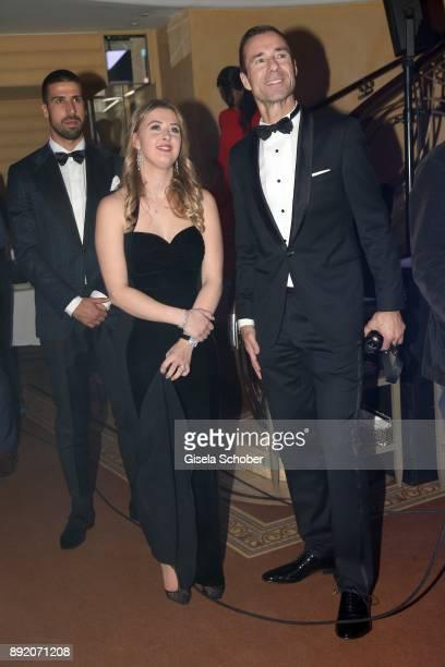GinaMaria Schumacher daughter of of Michael Schumacher and Kai Pflaume during the Audi Generation Award 2017 at Hotel Bayerischer Hof on December 13...
