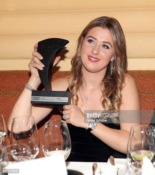 GinaMaria Schumacher daughter of of Michael Schumacher with award during the Audi Generation Award 2017 at Hotel Bayerischer Hof on December 13 2017...