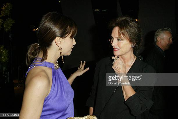 Gine Gershon and Jacqueline Bisset during MOCA Celebrates 25 Years of Ground Breaking Art Achievements Inside at MOCA at The Geffen Contemporary in...