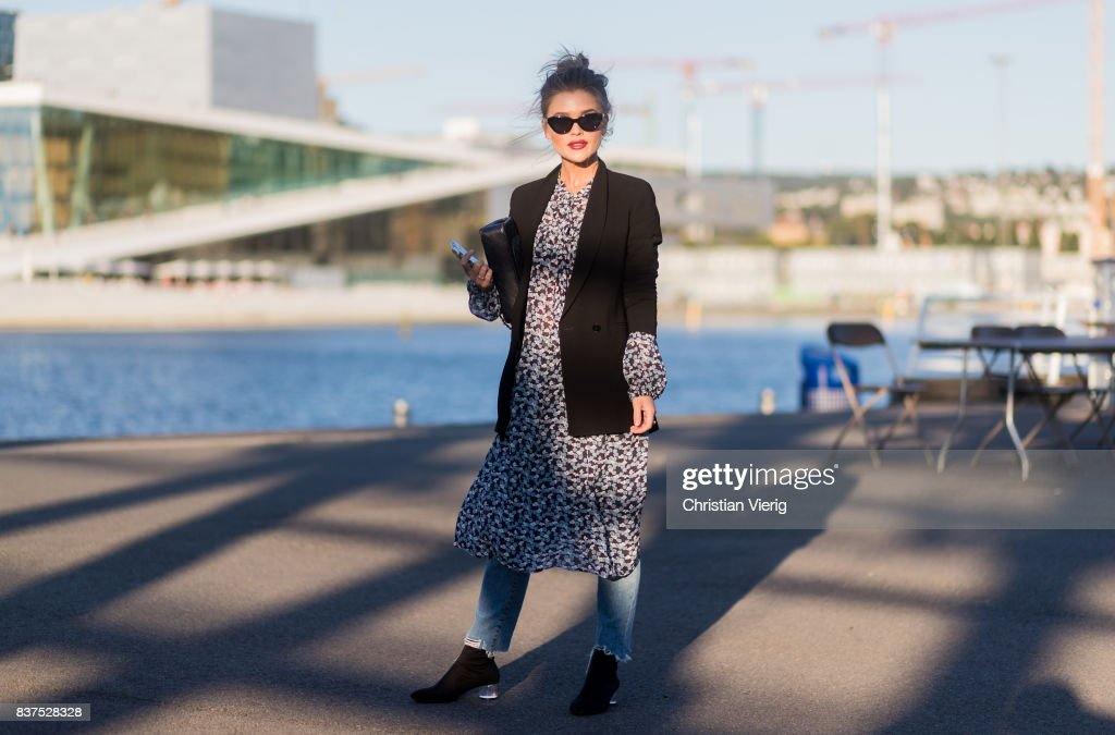 Gine Margrethe outside Tom Wood on August 22, 2017 in Oslo, Norway.