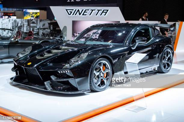 Ginetta Akula is displayed during the second press day at the 89th Geneva International Motor Show on March 6, 2019 in Geneva, Switzerland.
