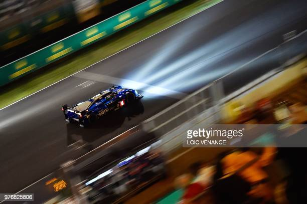 Ginetta G60 LTP1 Mechachrome LM P1 British driver Charles Robertson competes during the 86th Le Mans 24hours endurance race at the Circuit de la...