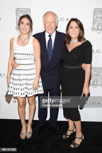 Ginevra Bulgari Beatrice Bulgari and Nicola Bulgari attend a party to celebrate the Bvlgari Flagship Store Reopening on October 20 2017 in New York...