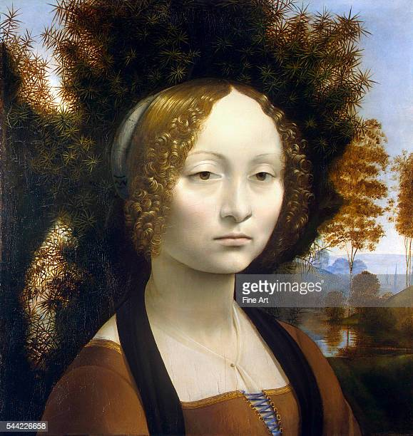 Ginevra de' Benci 14741478 Oil on wood 42 x 37 cm National Gallery of Art Washington DC | Located in National Gallery of Art