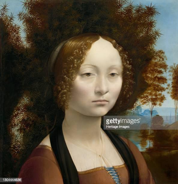 Ginevra de' Benci [obverse], c. 1474/1478. Artist Leonardo da Vinci.