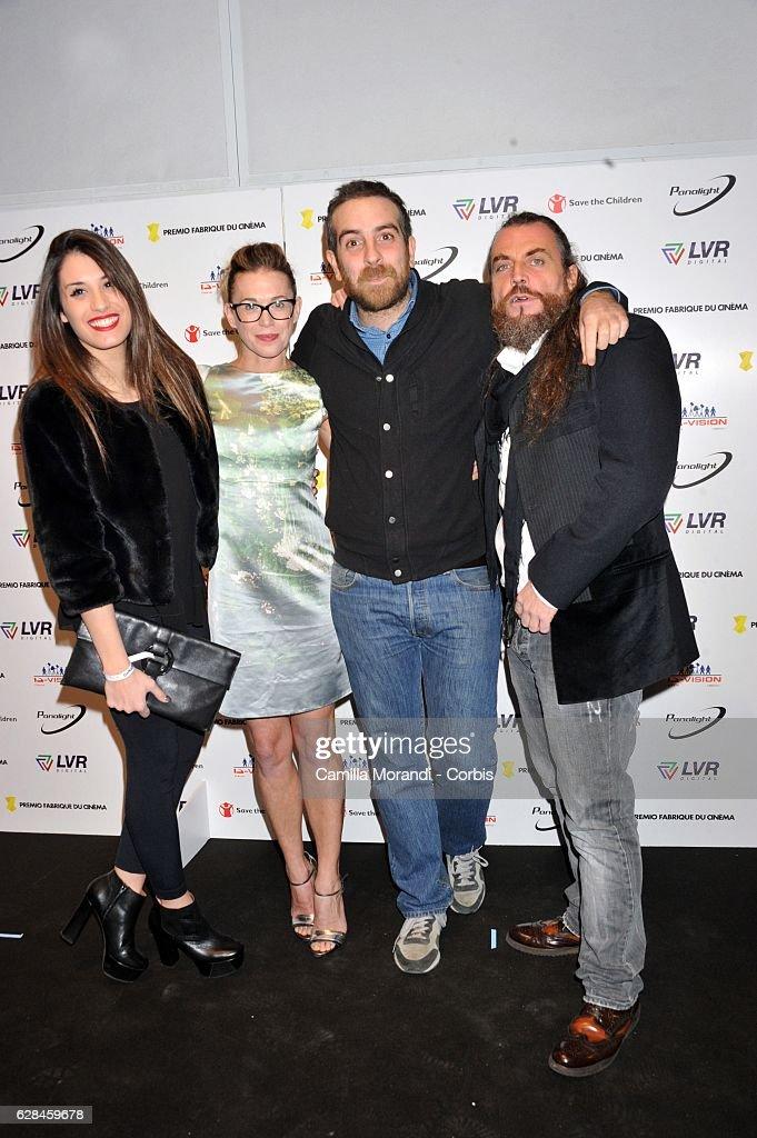 Ginevra De Carolis; Milena Mancini; Michele Vannucci and Mirko Frezza attend the Fabrique Du Cinema Awards In Rome on December 7, 2016 in Rome, Italy.
