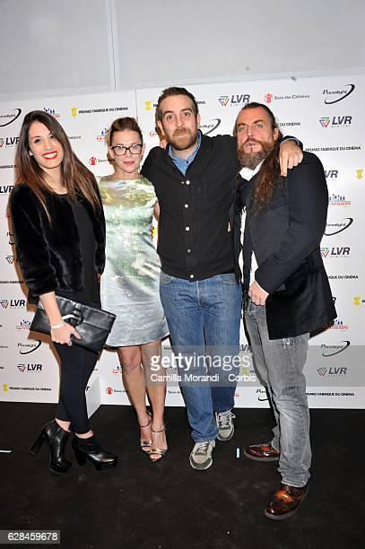 Ginevra De Carolis Milena Mancini Michele Vannucci and Mirko Frezza attend the Fabrique Du Cinema Awards In Rome on December 7 2016 in Rome Italy