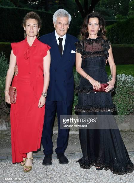 Ginevra Elkann Alain Elkann and Osanna Visconti di Modrone attends the McKim Medal Gala 2019 at Villa Aurelia on June 05 2019 in Rome Italy