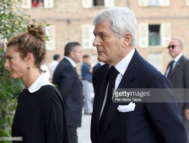 Ginevra Elkann and Alain Elkann arrive at the memorial service for Sergio Marchionne at Duomo on September 14 2018 in Turin Italy A memorial service...