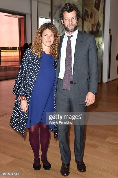 Ginevra Elkann and Giovanni Gaetani dell'Aquila d'Aragona attend at the Mario Testino Exhibition Opening at the Pinacoteca Giovanni e Marella Agnelli...
