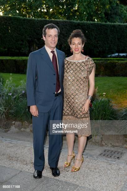 Ginevra Elkann and Giovanni Gaetani dell'Aquila d'Aragona attend McKim Medal Gala at Villa Aurelia on June 7 2017 in Rome Italy