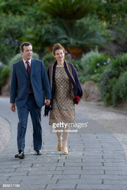 Ginevra Elkann and Giovanni Gaetani dell'Aquila d'Aragona attend McKim Medal Gala at Villa Aurelia on June 7, 2017 in Rome, Italy.