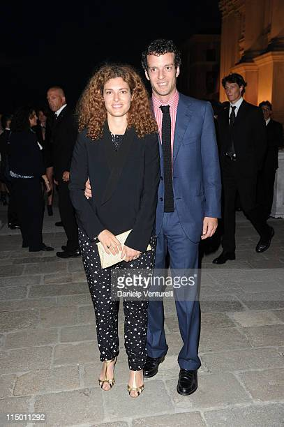 Ginevra Elkann and Giovanni Gaetani dell'Aquila d'Aragona attend the 'Il Mondo Vi Appartiene' Dinner during the 54th International Art Biennale at...