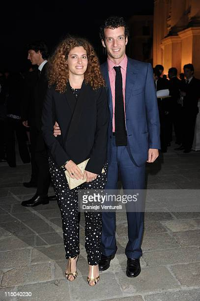 Ginevra Elkann and Giovanni Gaetani dell'Aquila d'Aragona attend the 'Il Mondo Vi Appartiene' Dinner during the 54th International Art Biennale at...