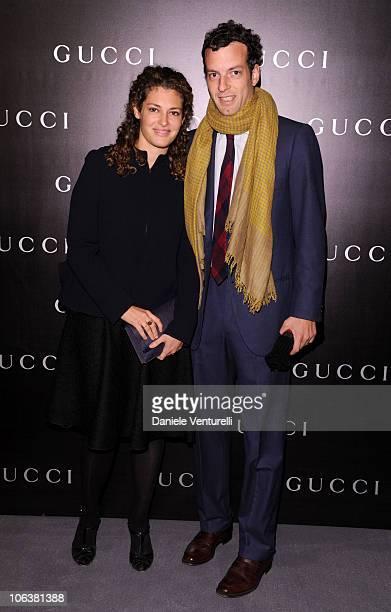 Ginevra Elkann and Giovanni Gaetani dell'Aquila d'Aragona attend the World Restoration Premiere Of La Dolce Vita Dinner Hosted by Gucci at the Hotel...
